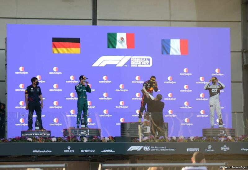 Состоялась церемония награждения победителей Гран-при Азербайджана Формулы-1