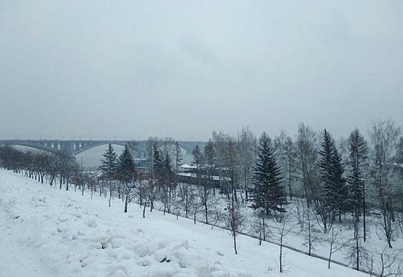 В России выпал снег
