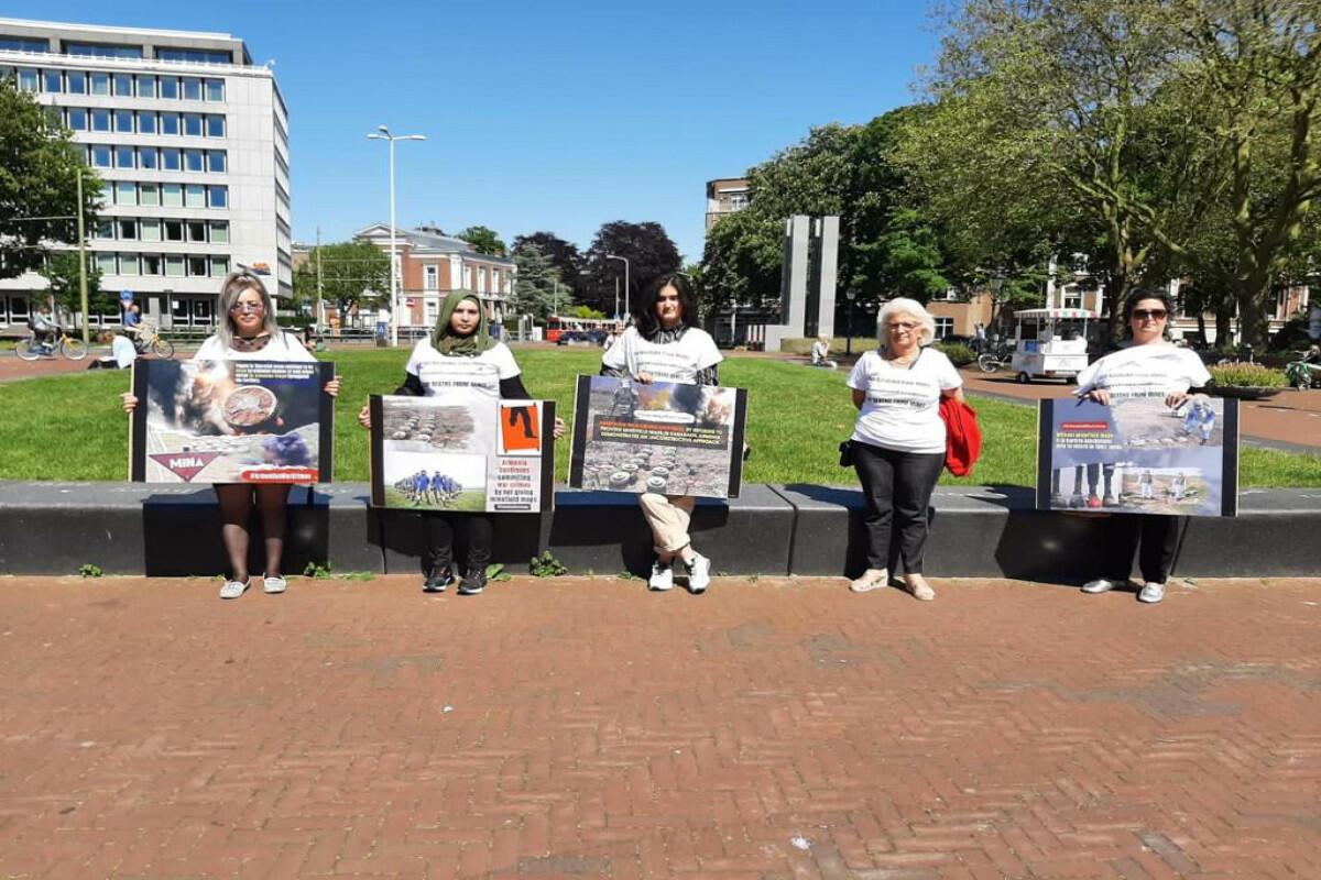 В Гааге прошла акция протеста под лозунгом «Остановите смерти от мин!»