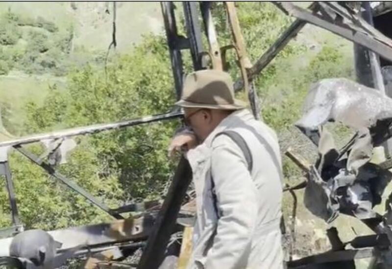 Реза Дегати посетил место гибели журналистов в Кельбаджаре
