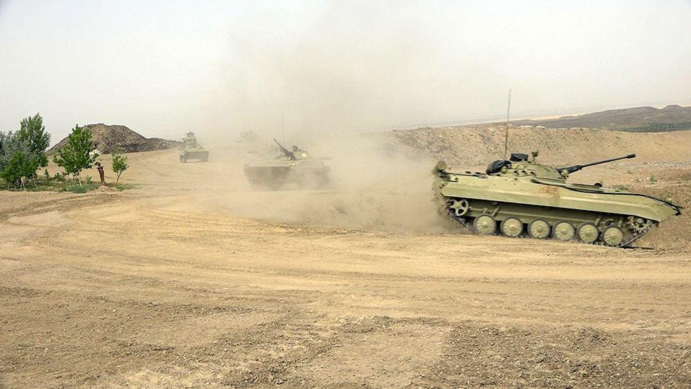 Командно-штабные учения в войсках Нахчыванского гарнизона