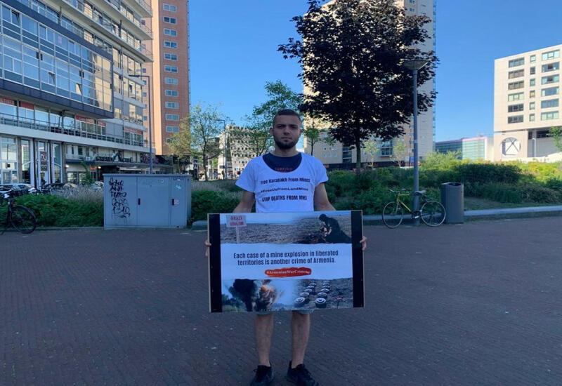 Акции протеста против действий Армении прошли в нидерландских городах