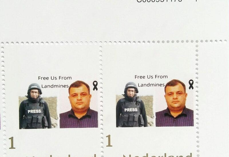 В Нидерландах выпустили марки в память о погибших в Кельбаджаре журналистах