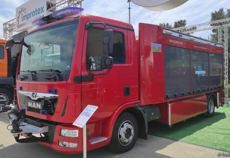 В Азербайджане впервые начато производство пожарных автомобилей
