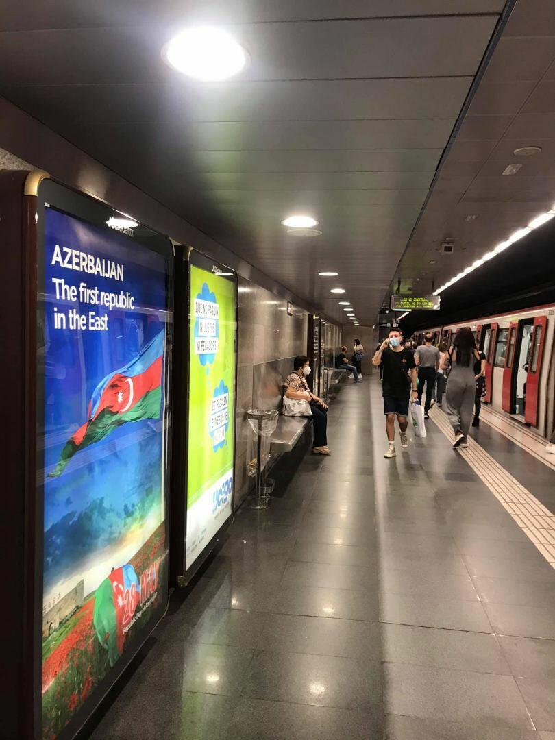 B метро Барселоны установлены билборды об Азербайджане