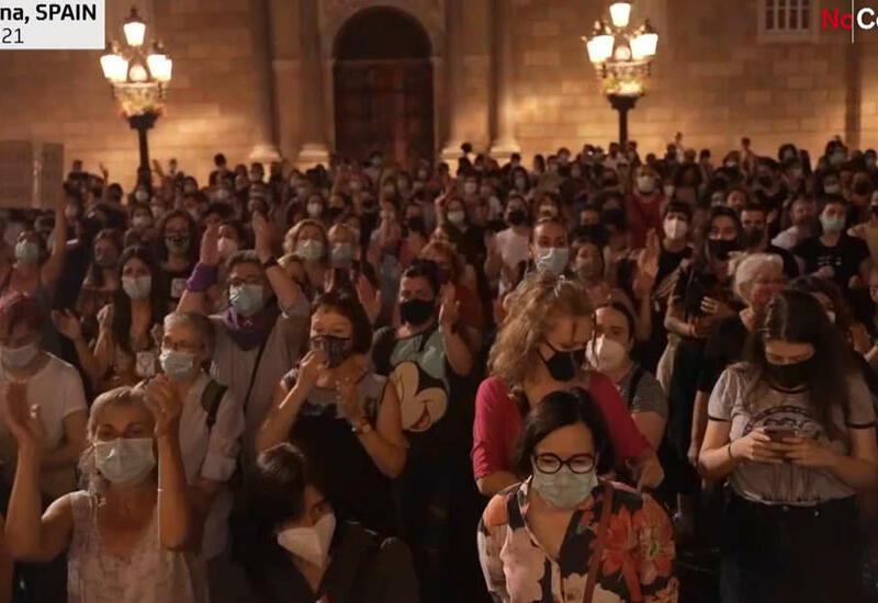 Барселона: протесты против насилия в отношении женщин и детей