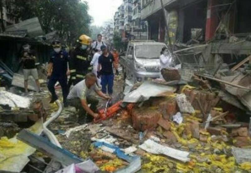 Последствия мощного взрыва в Китае сняли на видео