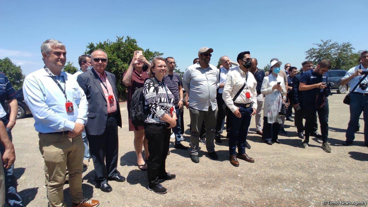 Визит представителей дипломатического корпуса в Агдам