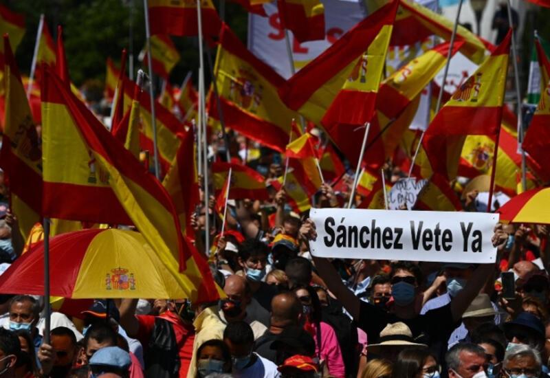 В Мадриде прошел марш против помилования сепаратистов
