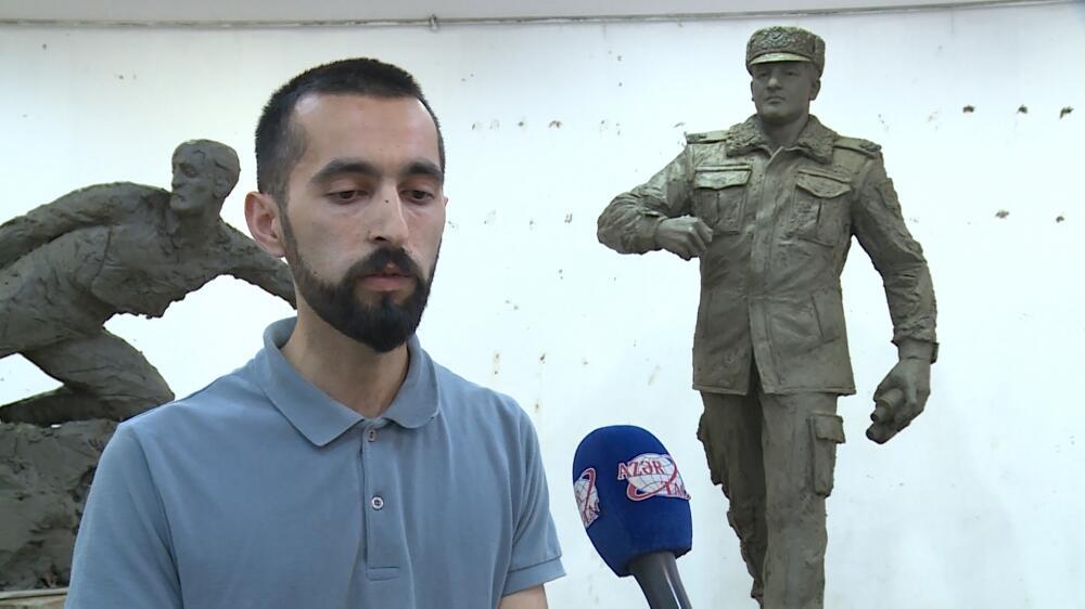 Герои Отечественной войны Азербайджана в произведениях молодых скульпторов