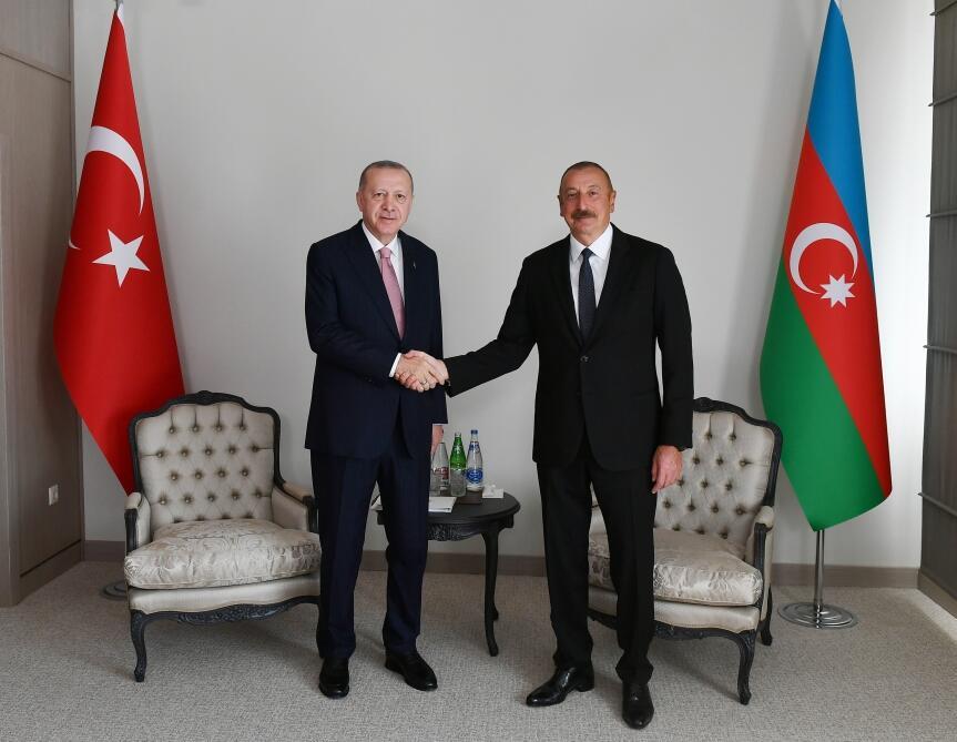 Президент Ильхам Алиев и Реджеп Тайип Эрдоган провели встречу один на один в Шуше