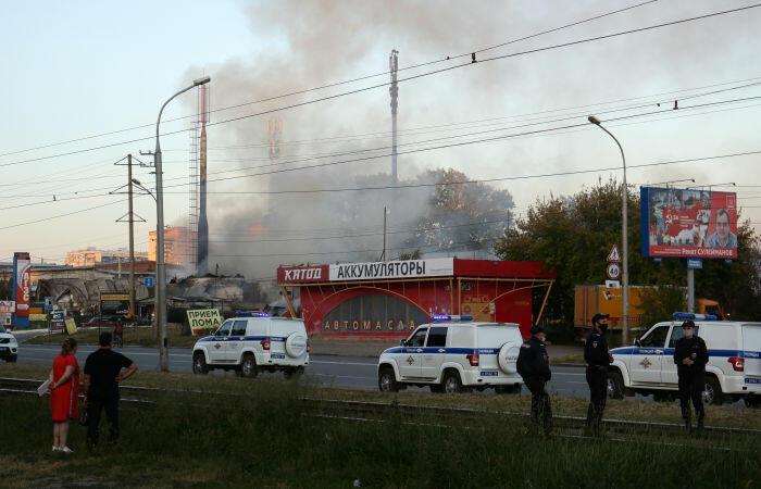 Сильный пожар на автозаправке в России, десятки пострадавших