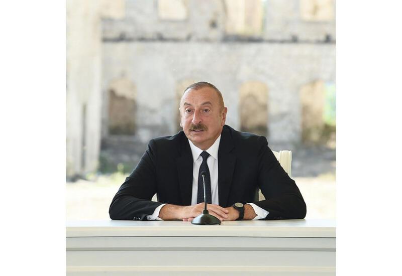 Президент Ильхам Алиев: В Шушинской декларации нашли отражение предельно ясные выражения, связанные с открытием Зангезурского коридора