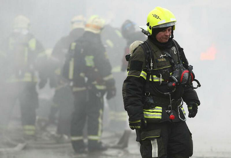 В Москве произошел пожар в строящейся многоэтажке