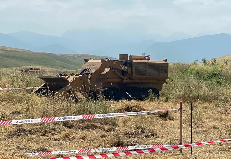 Турецкая техника очищает Карабах от мин