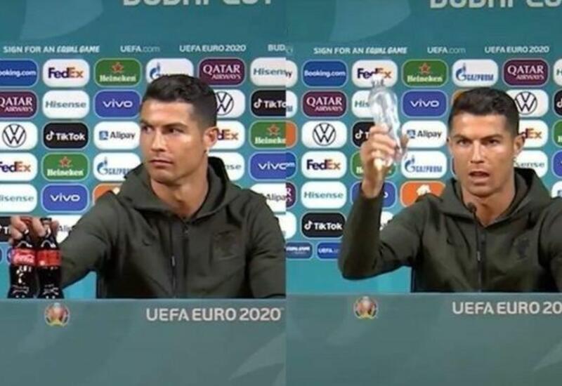 В УЕФА потребовали от футболистов не трогать бутылки на пресс-конференциях