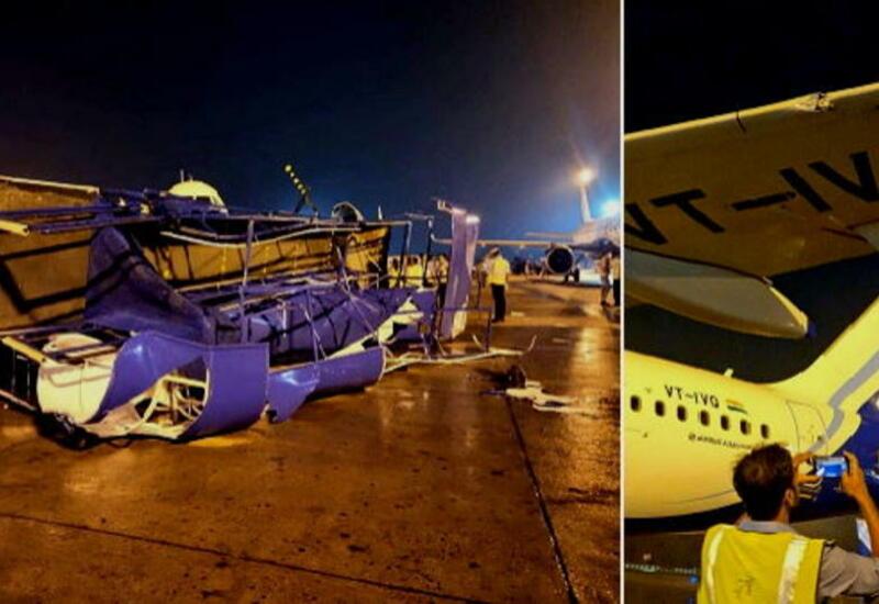 Три самолета пострадали в аэропорту Индии