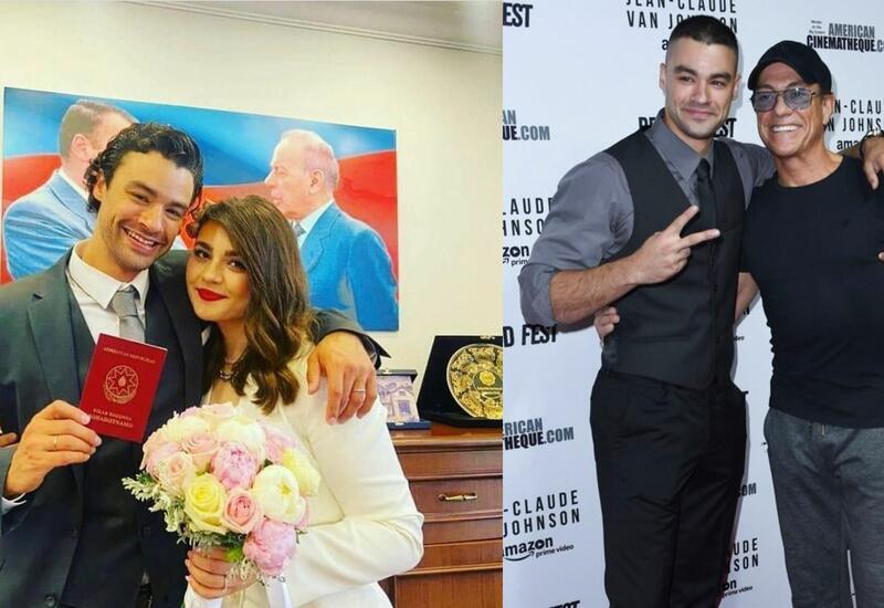 В Сети появились кадры знакомства азербайджанки и сына Жан-Клода Ван Дамма