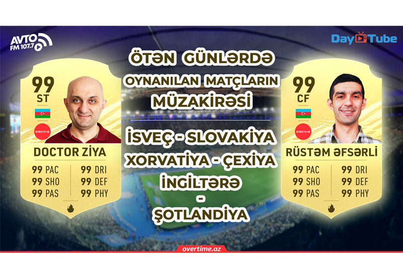 Overtime на Day.Az! - подробный анализ матчей ЕВРО-2020