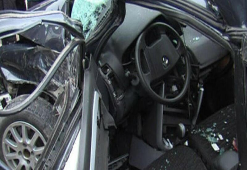 В Физули столкнулись 3 автомобиля