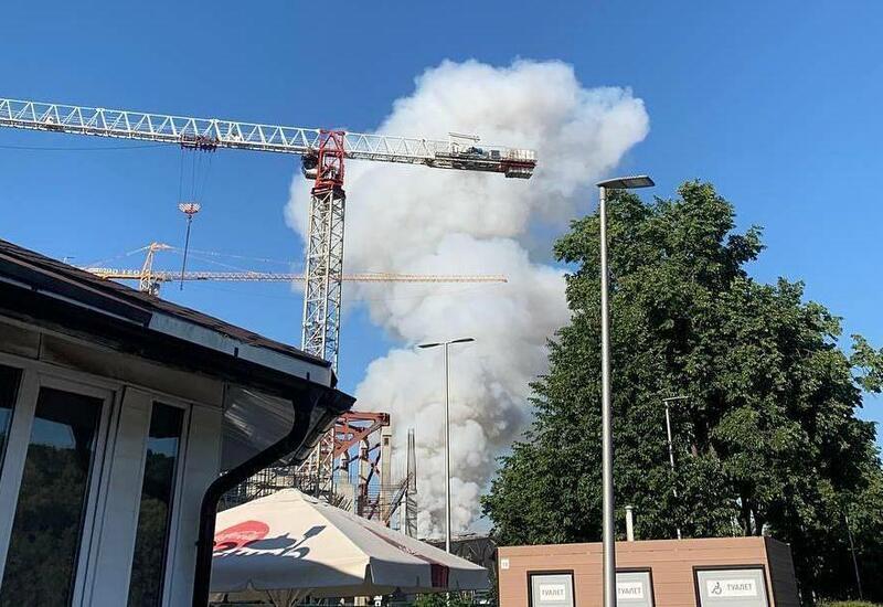 Локализован пожар на складе пиротехники в Москве