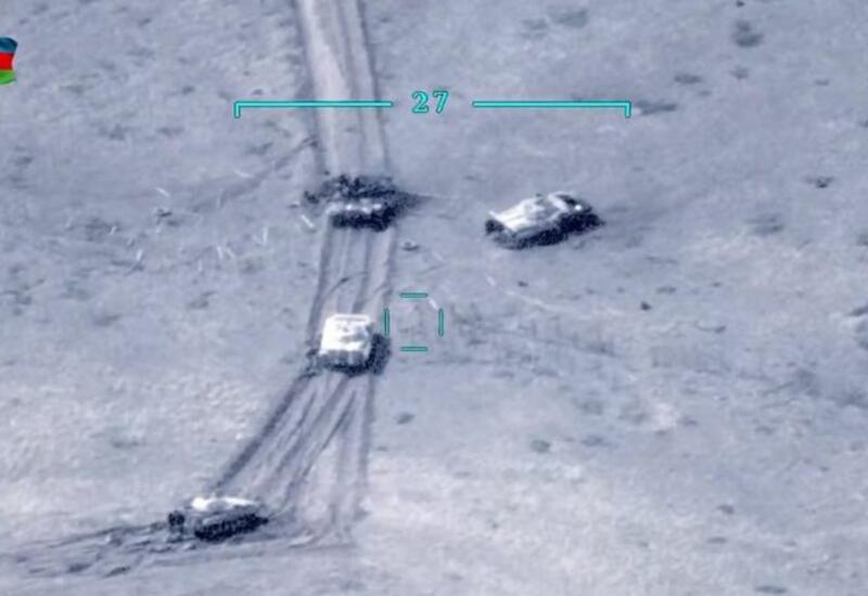 Азербайджан эффективно уничтожал беспилотниками армянские танки во время войны в Карабахе