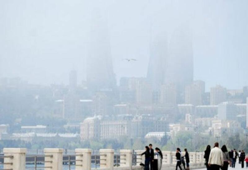 Баку окутал пыльный туман