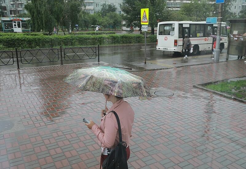 Красноярск накрыли сильные дожди