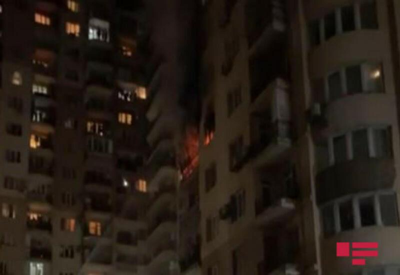 МЧС о пожаре в многоэтажном доме в Баку