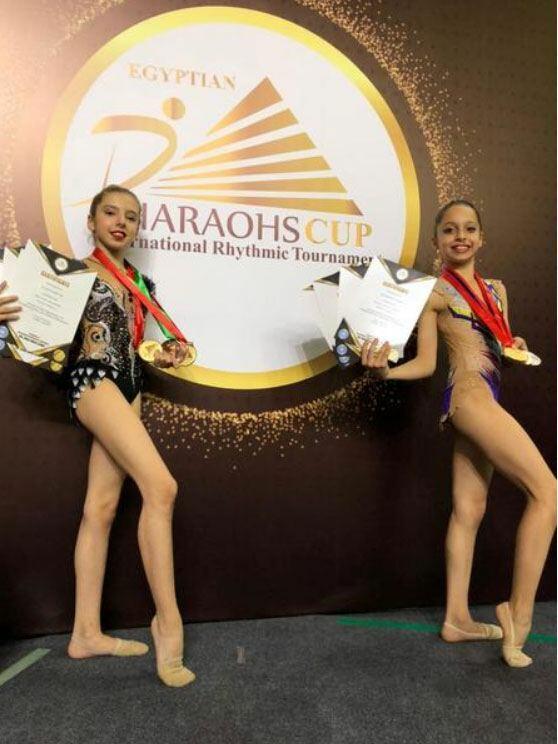 Азербайджанские гимнастки возвращаются из Египта с медалями