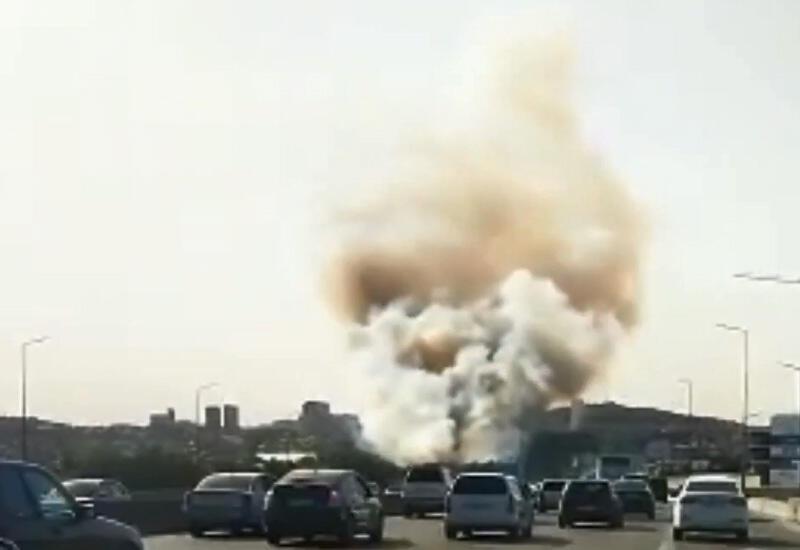 В Бинагадинском районе Баку произошел сильный пожар