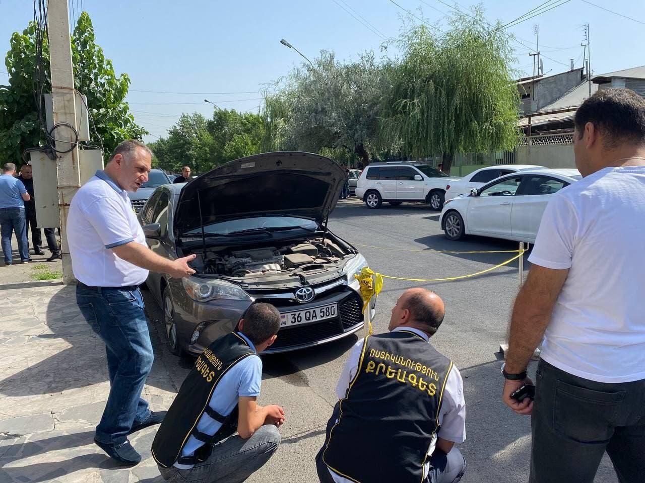 В Армении пытались взорвать машину оппозиционера