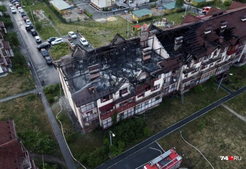 В Челябинске горит многоквартирный дом