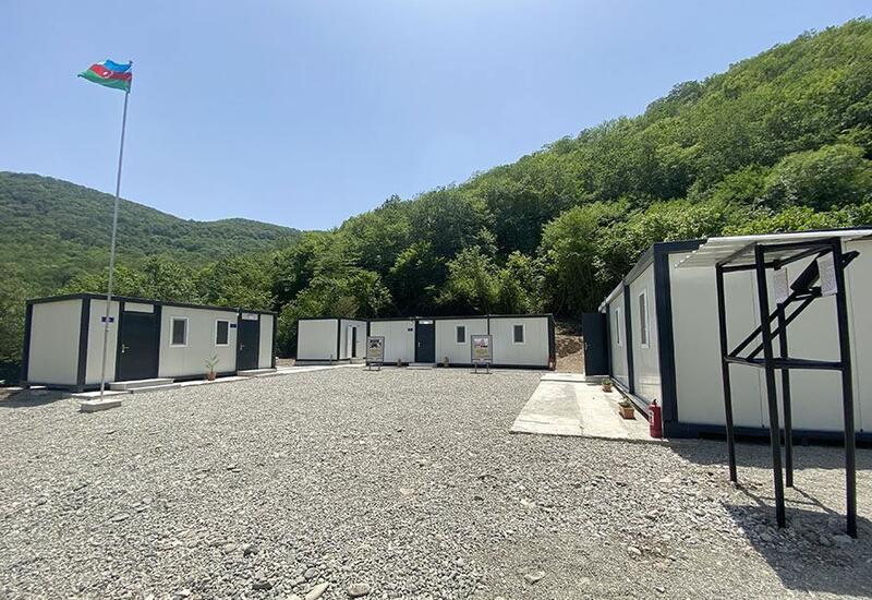 На освобожденных территориях Азербайджана введена в эксплуатацию новая воинская часть модульного типа