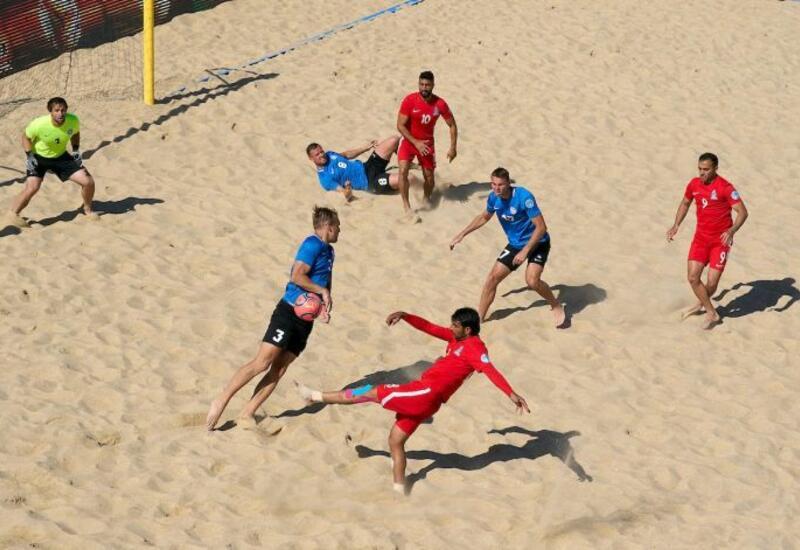 Сборная Азербайджана по пляжному футболу победила Эстонию