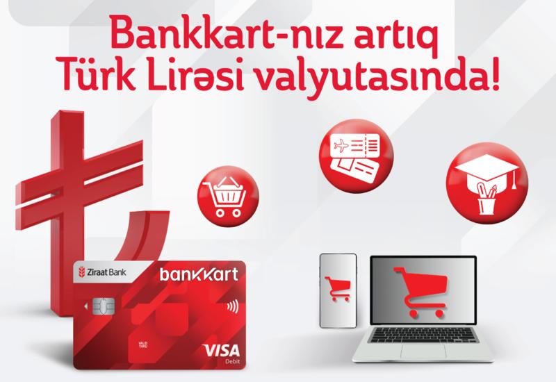 """Artıq """"Bankkart"""" Türk Lirəsi valyutasında (R)"""