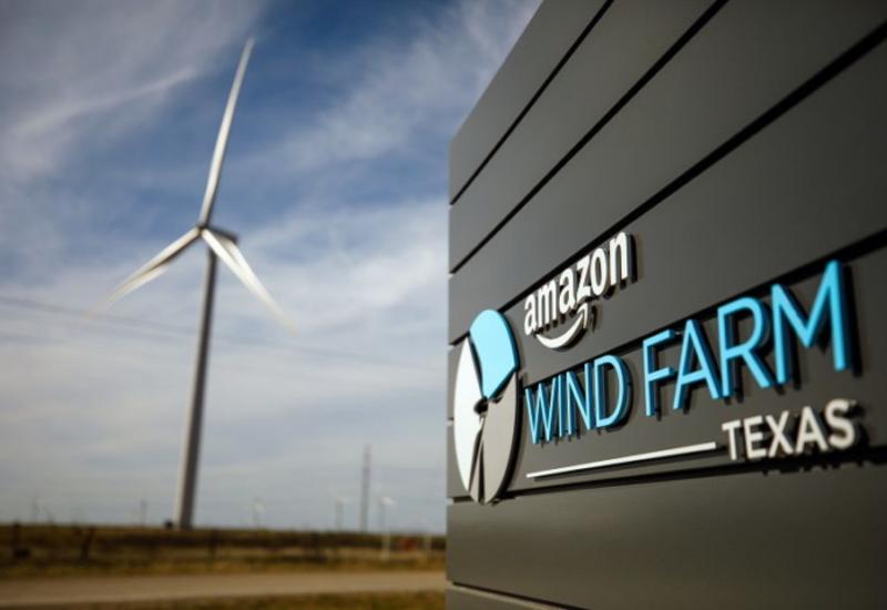 Amazon наращивает использование электроэнергии, производимой за счет возобновляемых источников