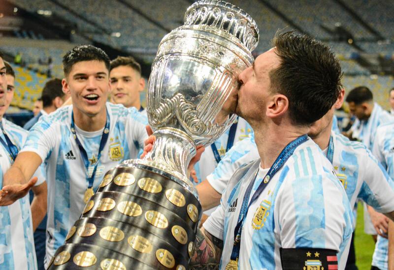 Вот как сборная Аргентины во главе с Месси радуется выигранному Кубку Америки
