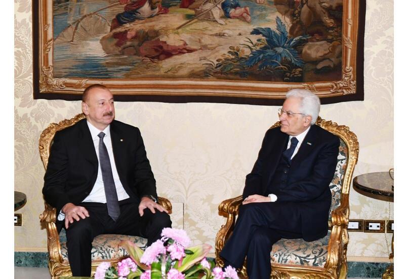 Президент Ильхам Алиев поздравил Серджо Маттареллу с победой сборной Италии на чемпионате Европы