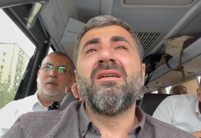 Вернувшийся в Шушу спустя 29 лет Заур Бахшалиев не смог сдержать слез