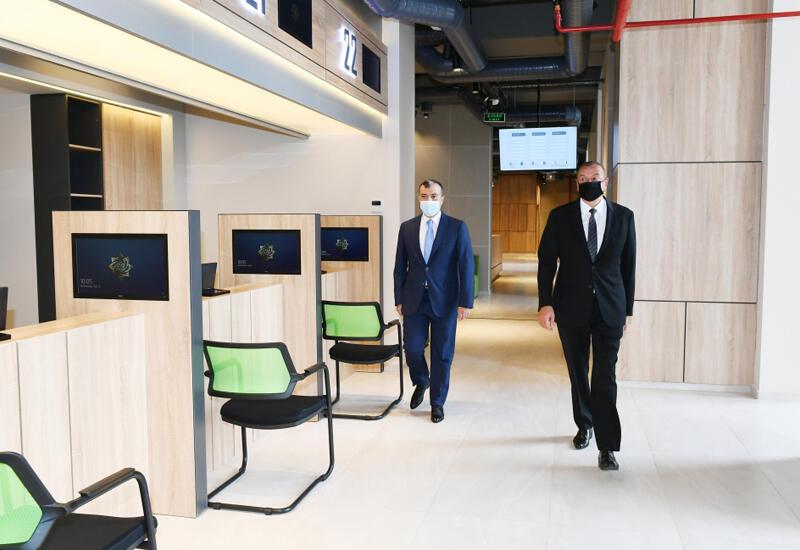 Президент Ильхам Алиев принял участие в открытии Абшеронского центра DOST