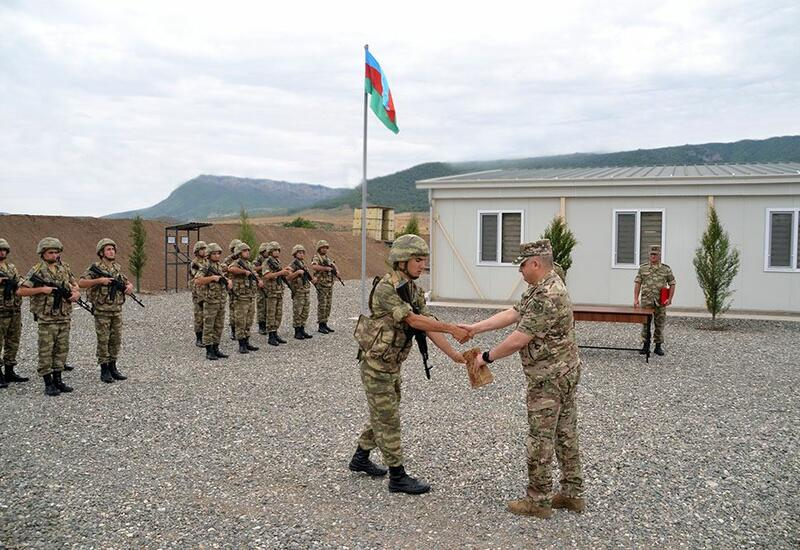 На территории Агдамского района состоялось открытие очередной воинской части