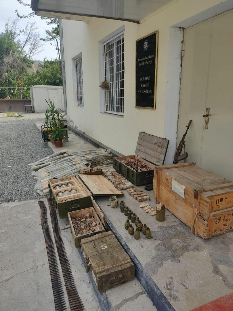 В Губадлы обнаружена крупная партия оружия и боеприпасов