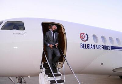 Глава Евросовета Шарль Мишель прибыл с рабочим визитом в Азербайджан - ФОТО