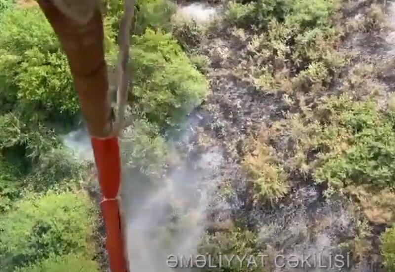 Пожар в заминированном Ходжавенде