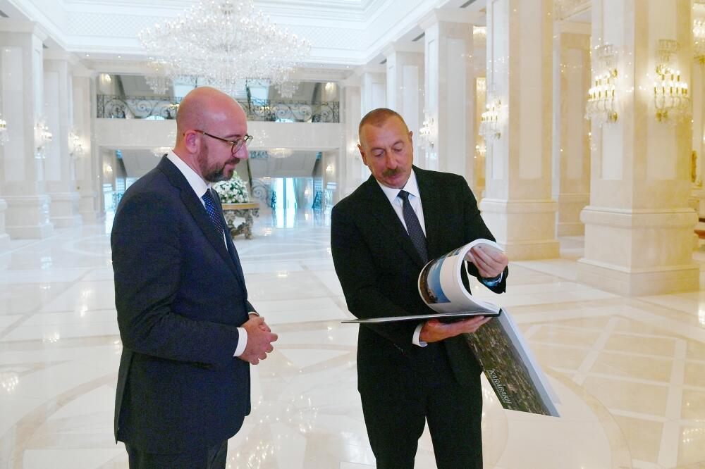 Состоялась совместная пресс-конференция Президента Ильхама Алиева и Президента Совета Европейского Союза Шарля Мишеля