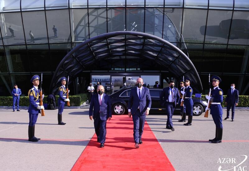 Avropa İttifaqı Şurasının Prezidenti Şarl Mişelin Azərbaycana səfəri başa çatıb