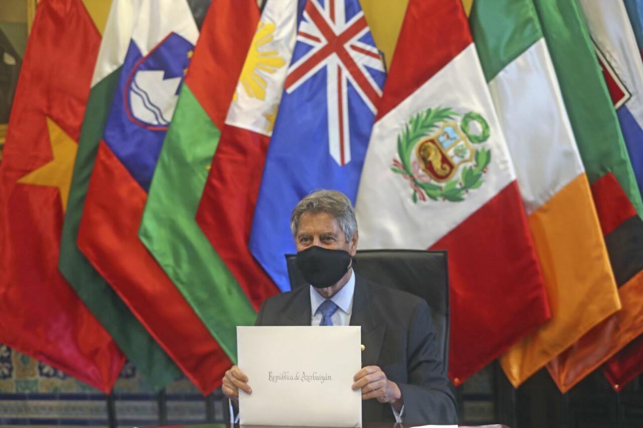 Президент Перу принял верительные грамоты посла Азербайджана