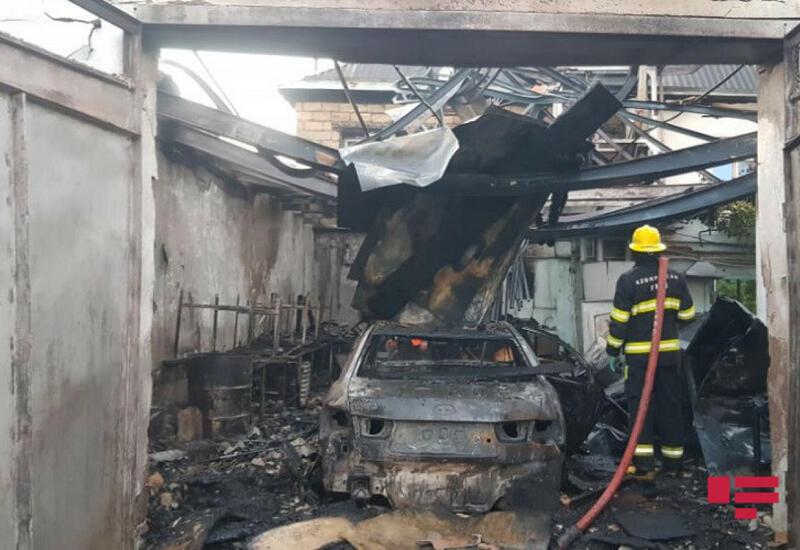 Сильный пожар в Уджаре,