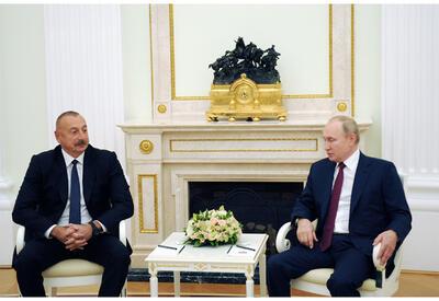 В Москве состоялась встреча Президента Ильхама Алиева и Владимира Путина - ФОТО